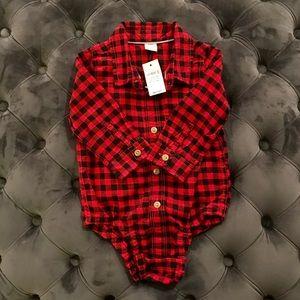 Baby Gap Buffalo Plaid Bodysuit 12-18 months